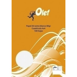 PAPEL A4 OLEF 80 G. 100 H....